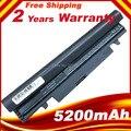Frete grátis 5200 mAh bateria para SAMSUNG N145 N148 N150 N250 N250P N260 N260P Plus preto