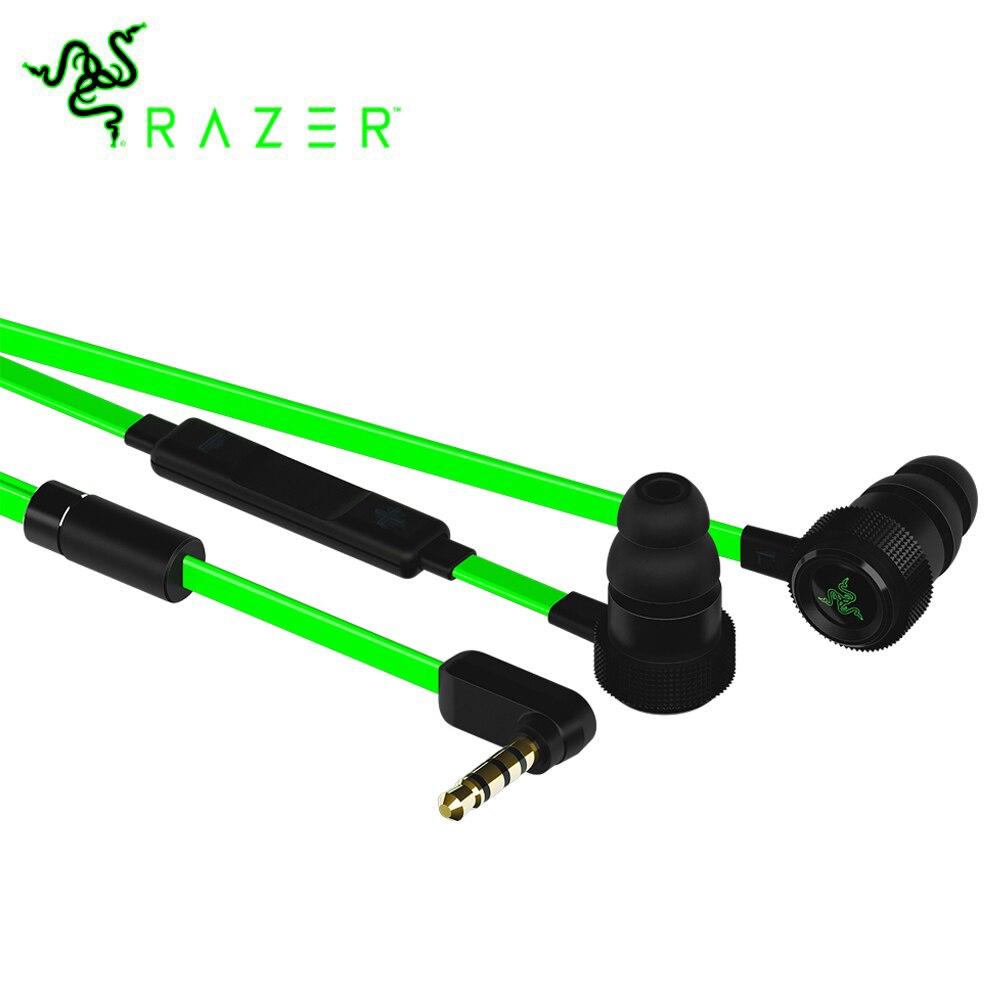 Razer Hammerhead Pro V2 Écouteurs Plat Style Câbles avec 3.5mm Jack et Commandes de Volume avec Micro pour le Jeu Mobile écouteurs