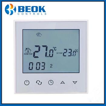 TDS21WP termostat do ogrzewania podłogowego tygodniowy programowalny termostat pokojowy z białym podświetleniem tanie i dobre opinie beok Regulator temperatury CN (pochodzenie) TDS21-WP 70 ° C-99 ° C DIGITAL Indoor Ładowarka Osadzone 2 0-3 9 Cali Touch Screen Display Type