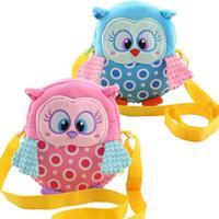 Cartoon Animal Owl Style Kids Toy Plush Backpack Children Single Shoulder Soft Bags Messenger Bag Kids