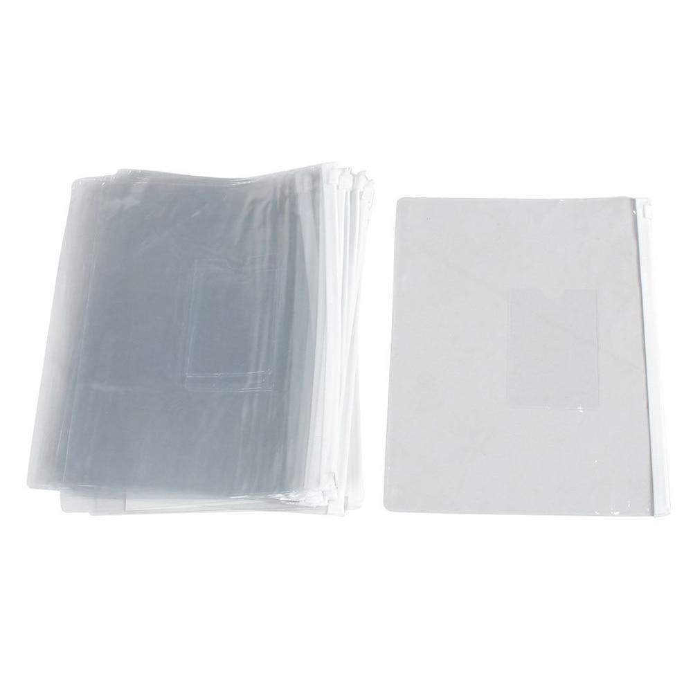 Initiative Scll Hot 20 Pieces A5 Paper Size White Slider Grip Handle Zipper Transparent Envelopes For Folder Folder File Folder Filing Products