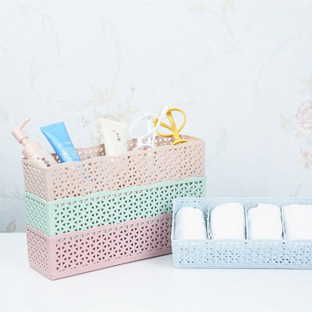 5 Cells Plastic Organizer Storage Box Tie Bra Socks Drawer Cosmetic Divider Bra Underwear Necktie Sock Fashion Convenient Storag