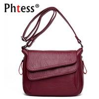 2018 New Women Leather Messenger Bags Luxury Handbags Women Bags Designer Female Crossbody Vintage Shoulder Bag