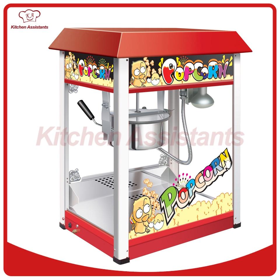 VBG1608 Commericial automatic popcorn machine maker with big volume 8oz series pop 06 economic popcorn maker commercial popcorn machine with cart