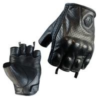 Echtes Leder-halbe Finger Motorrad Handschuhe Scoyco Sommer Motocross Racing Handschuhe Ziege Leder Schafe Haut Moto Bike Handschuh