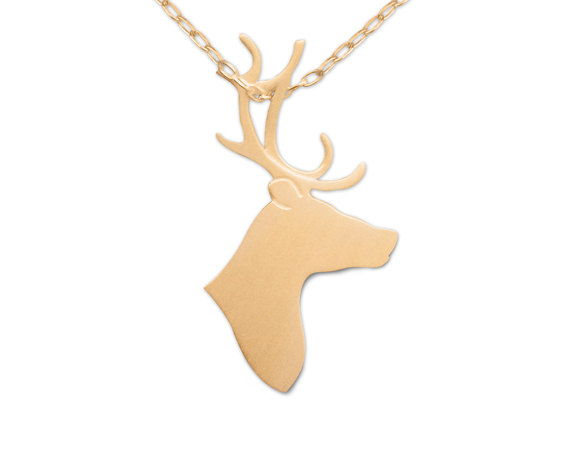 Wholesale Reindeer Necklace Pendant Charm Pets Memorial Christmas Gift for Lovers Move On