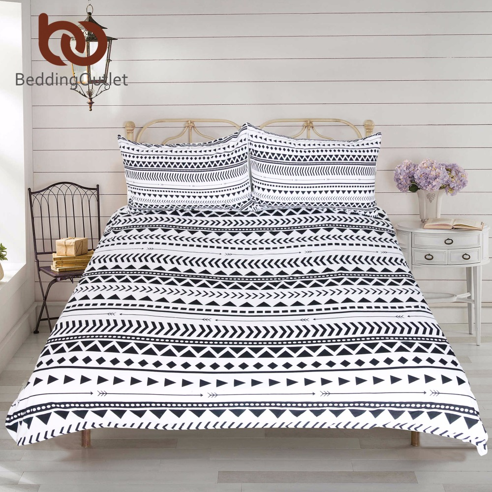 popular modern geometric beddingbuy cheap modern geometric  - beddingoutlet pcs black white striped duvet cover set modern chicreversible geometric printed bedding set soft