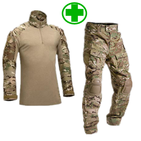 ФОТО SWAT Tactical Camouflage Military Uniform Clothes Suit Men US Army Multicam Hunting Militar Combat Shirt + Cargo Pants Knee Pads
