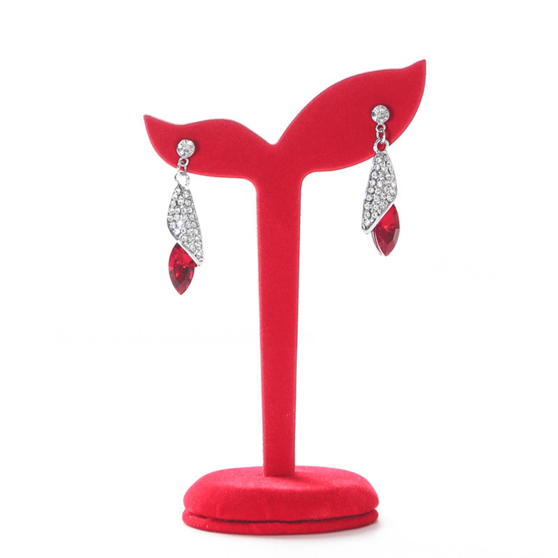 Velvet Earring Ear Stud Jewelry Display Stand Storage Hanger Holder Show Rack Gift 4 Color Available