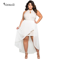 2018 Lace Elegante Ocasião Especial Plus Size Vestido Grande Tamanho XXXL LC61037 Estilo Verão Vestidos Brancos para As Mulheres Roupas Casuais