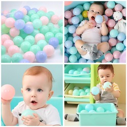 Экологичные цветные пластиковые шарики для бассейна, 25/50/100 шт., шарики для бассейна, Детские мячи для плавания, мячи для снятия стресса, для з...