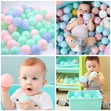 Balle souple en plastique écologique pour bébé, jouet coloré pour nager dans la fosse à boules, la piscine et sur les vagues de l'océan, boules de sports et de jeu en plein air, 25/50/100 pièces,