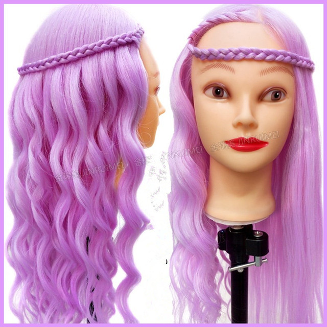 Styling Doll Hair 80% Animal Hair Mannequin Head Hairdressing Practice Training Doll .