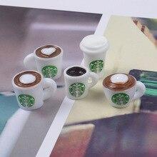 1/12 Cibo In Miniatura Mini Tazza di Caffè Bevanda Modello Bambola Cibo per blyth, bjd, 1/6 bambola per la casa delle bambole Giocattoli da cucina