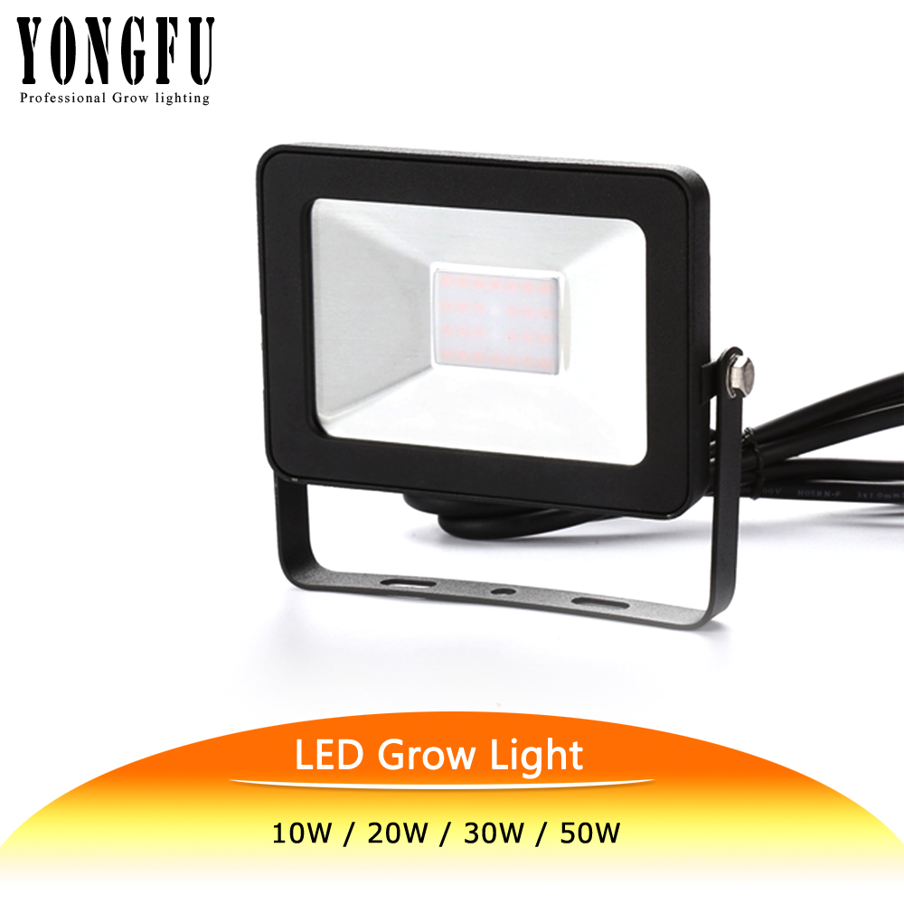 Full Spectrum Led Grow Light 10w 20w 30w  For Outdoor Tent Plants Growth Lamp 400 850nm Ip65 Waterproof Ultra Thin Grow Lamps