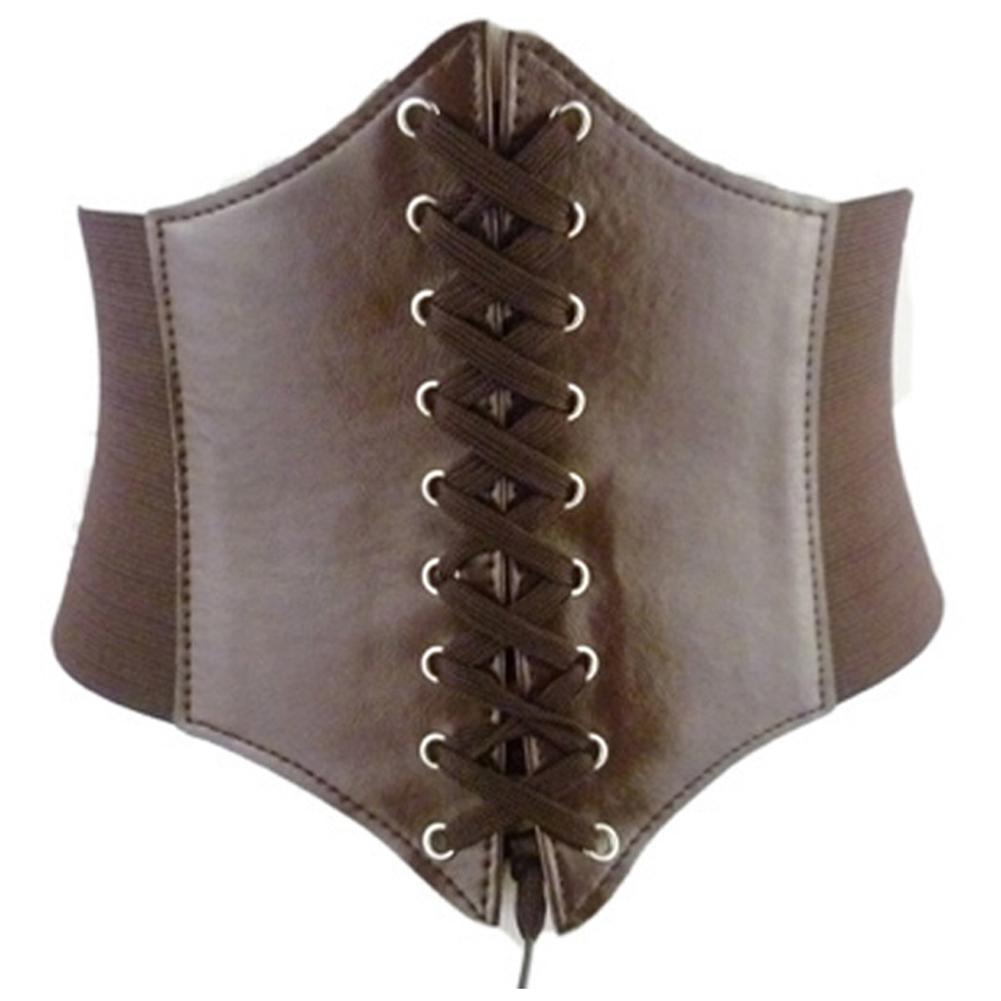 Solid Color Women Slim Body Shaper Underbust Corset Lace Up Waistband Waist Belt Hot