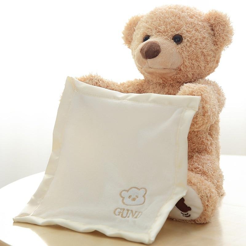 stroy tellingTeddy Bear Stuffed Animals Plush Toy Colorful Glowing Teddy Bear Christmas Gift for Kids