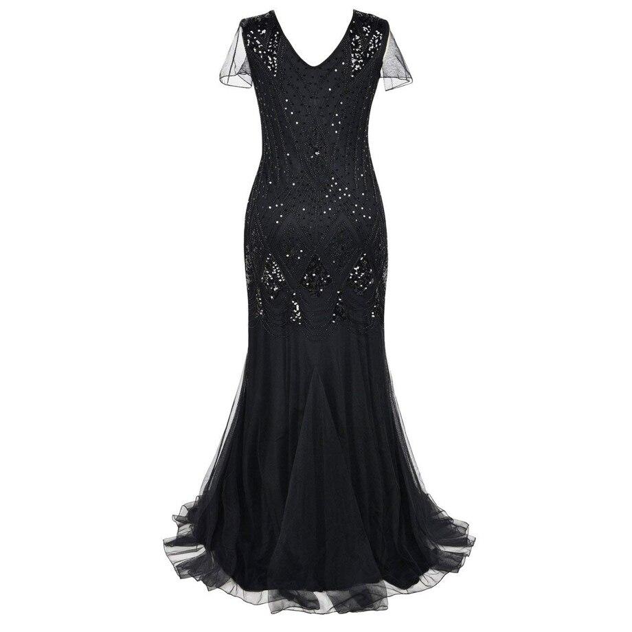 Robes de soirée 2019 automne sans manches longue robe de soirée grande taille formelle dentelle bal femmes robes à paillettes robe vintage