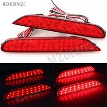 MZORANGE 2 предмета светодиодный задний бампер отражатели свет лампы для Nissan Leaf Pathfinder Rogue X-Trail x trail JX35 QX56 qashqai 2014-