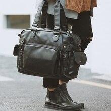 GUMST Leather Handbag men messenger bag Casual men travel bags Briefcase Shoulder Bag crossbody bags for Male designer handbag