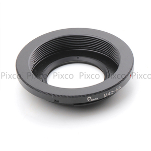 Image 2 - Pixco M42 Nik With Infinity Focus Glass Lens Adapter Ring Suit For M42 to suit for Nikon Camera D750 D8