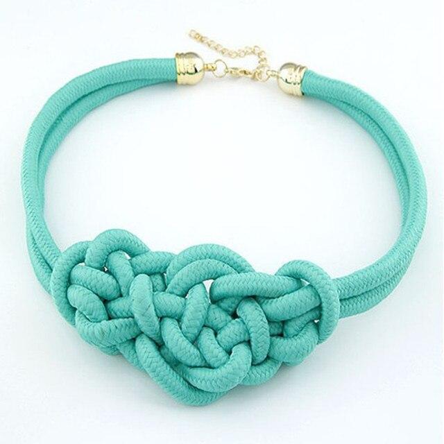 Hot Fashion Pendant Choker Necklace For multicolor Creative Women Cotton Handwov