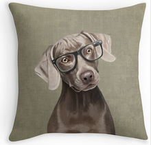 "Cool Art Design Mr Weimaraner Dogs Double size Printing Square nice Pillowcase for 12""14"" 16"" 18"" 20"" 24"" free shipping"