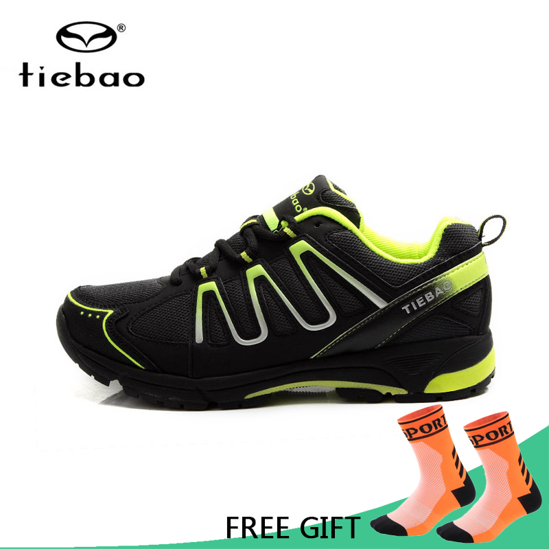 Tiebao Leisure Cycling Shoes Men Mountain Road Bicycle Professional Bike Sneakers MTB Racing Self Lock zapatillas