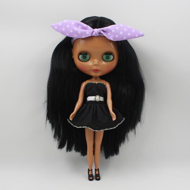 Nude Blyth Doll, Brown long hair, big eye doll,Fashion