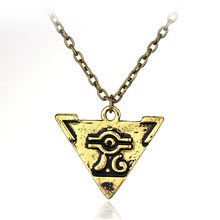 HANCHANG Anime Yugioh Millenium Pendant Jewelry Toy Yu Gi Oh Cosplay Pyramid Egyptian Eye Of Horus Yu-Gi-Oh Men Gift Necklace(China)