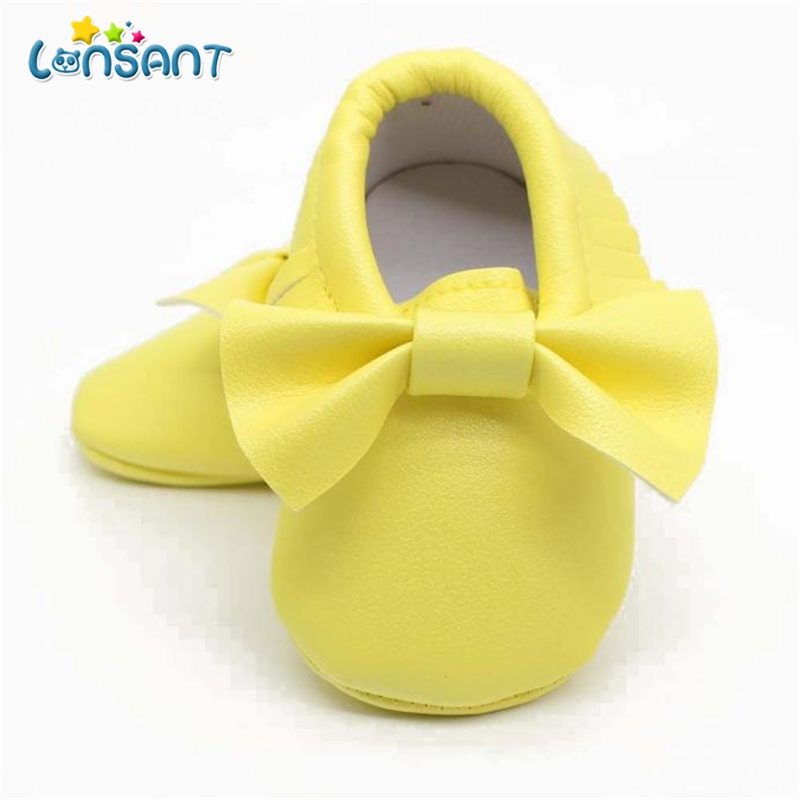 LONSANT Baby Girl Bowknot Tassels Sequins Shoes Toddler Soft Sole Sneakers Casual Shoes E1115