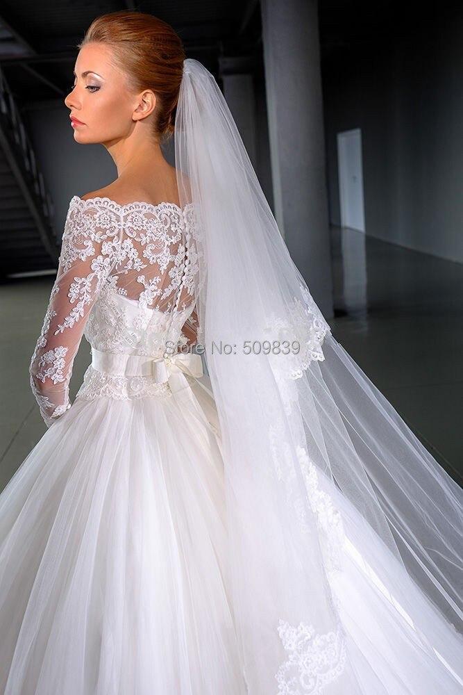 Ball Gown Wedding Dress With Veil