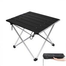 Tables pliantes carrées noires, meubles dextérieur de jardin, avec poches, pour Camping, randonnée, pique nique, pêche, barbecue