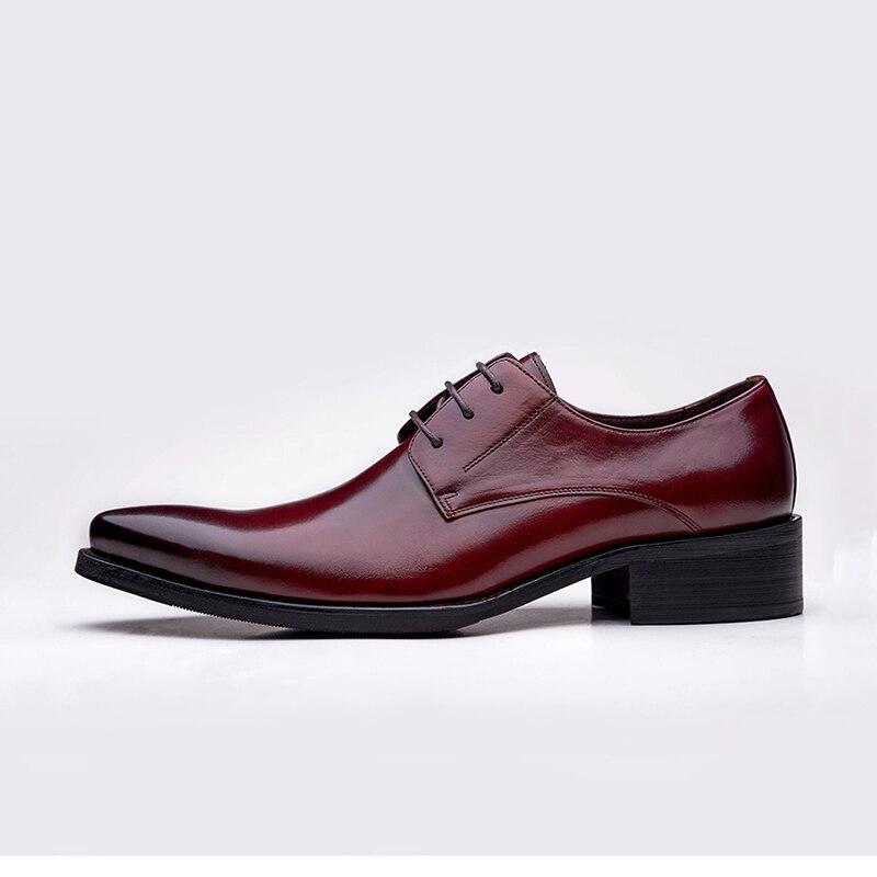 Bullock Black Mariage Qualité Dentelle Sculpté Cuir Appartements Richelieu Britannique De Hommes Oxfords red Chaussures Haute D'affaires Style En up Véritable gnUOTZwZqd