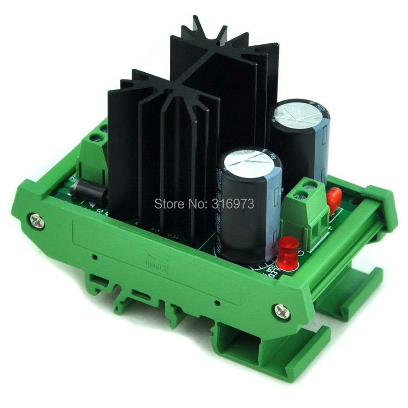 DIN Rail Mount Positive 1.25~37V DC Adjustable Voltage Regulator Module.