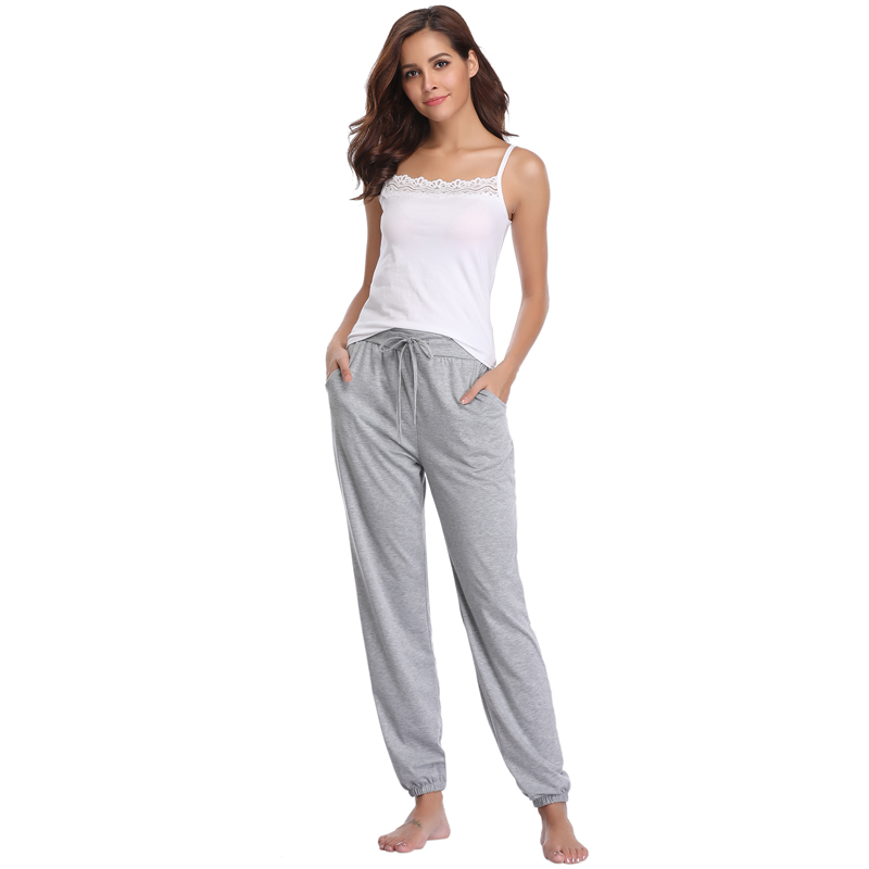 2019 New Women Home Pajama Pants Cotton Bottoms Large Size Casual Sleep Pant Stretch For Gym Sport