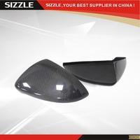 Add On Carbon Fiber Car Side Mirror Cover For Volkswagen VW Golf 7 MK7 GIT R