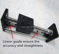 1204 Linear Rail Guide Stage Ball Screws 100mm Travel Length+ 57 Nema 23 Stepper Motor DIY CNC Router Linear Guide