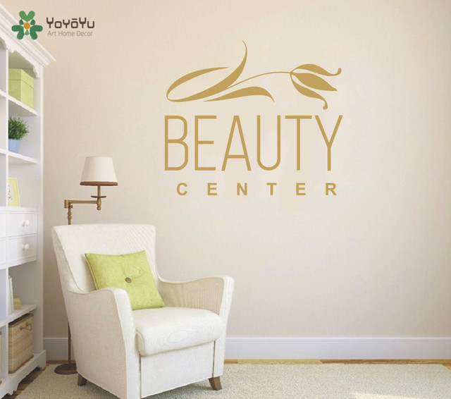 Yoyoyu wall decal girls beauty center vinyl wall stickers spa salon logo window decals art removable