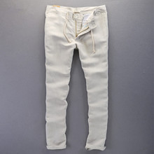 New Fashion Casual Men linen pants men Brand Sweatpants straight style Men Pants long Trousers Men