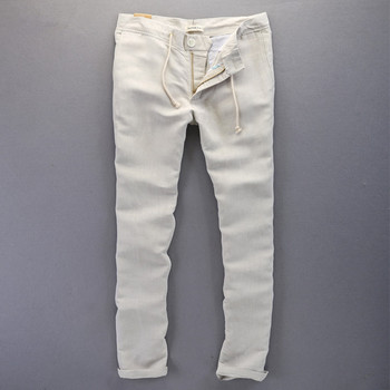 New Fashion Casual Men linen pants men Brand Sweatpants straight style Men Pants long Trousers Men cotton Clothing long pants