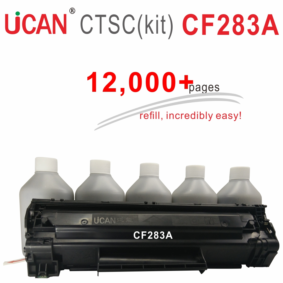 CF283A 83A Toner Cartridges compatible HP LaserJet MFP M125 M126 M127 M128 M201 M202 M225 M226 Printer UCAN CTSC kit 12000 pages 95 105 1 12