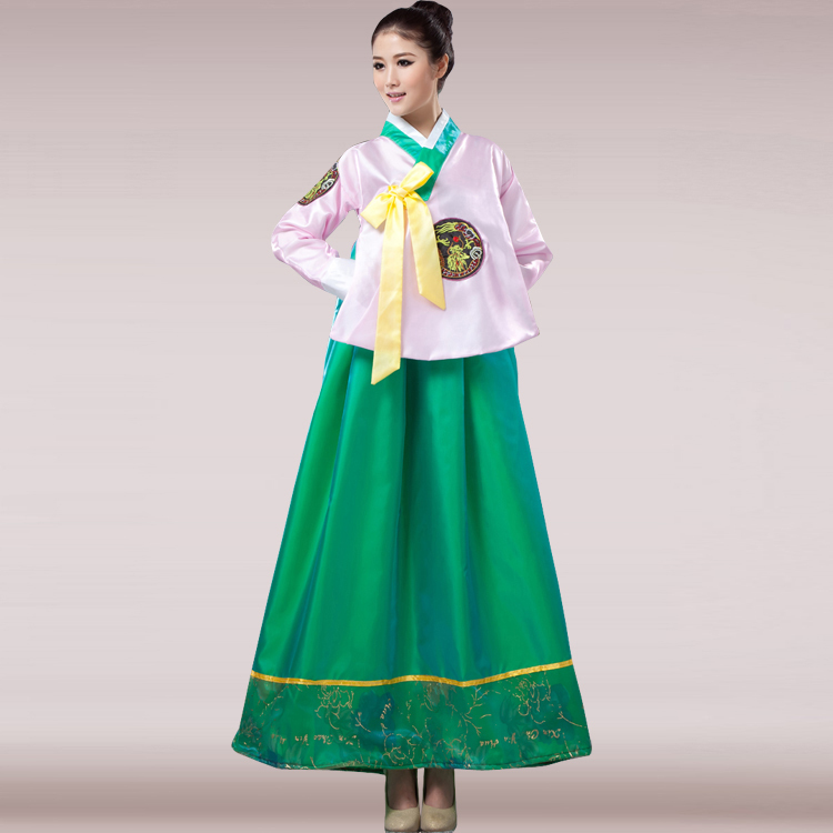 Aliexpress.com  Buy Free Shipping 2015 Pink Hot Sale New Korea Traditional Hanbok Costume ...