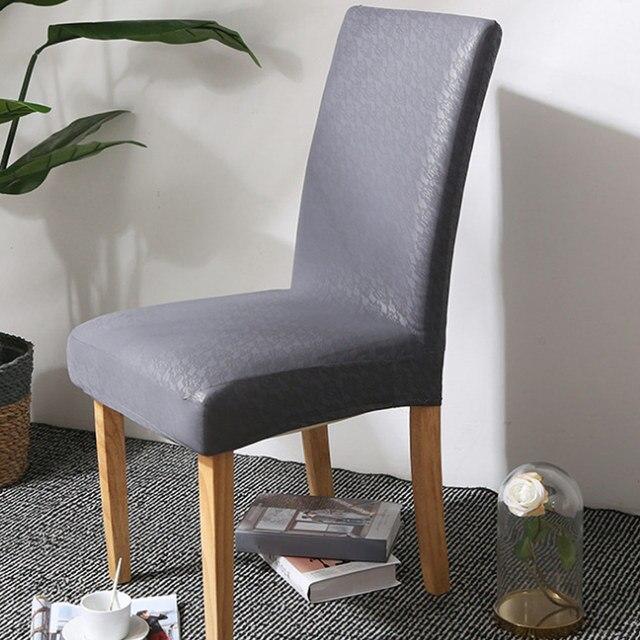 Yemek Sandalye Kilifi Kati Pu Deri Su Gecirmez Strec Sandalye Koruyucu Slipcover Lbshipping