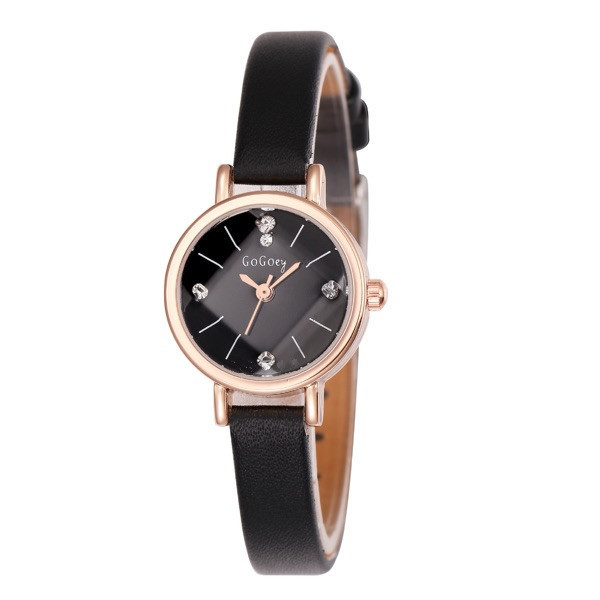 Hot Sales Gogoey brand thin leather watch women ladies Rhinestone dress Quartz W