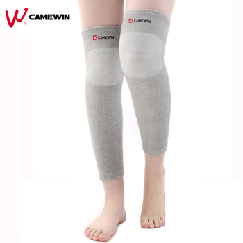 1 Piece Long Knee Protect Leg Calf Guard Warm Kneepad CAMEWIN High Elasticity Relieve Arthritis Sports Outdoor Knee Pad Support image