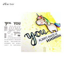 JC Clear Rubber Stamps Scrapbooking You Letter Words Sheet Silicone Seals Craft Stencil Album Paper Card Making Template