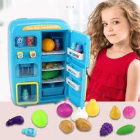 ChildrenKitchen Electrical Refrigerator Appliances Kitchen Toys Appliance Refrigerator Fridge Toy Set Early Education Toy