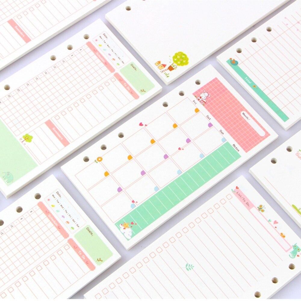 Notebooks Fromthenon Nette Sommer 6 Löcher Lose Blatt Notebook Refill Füllstoff Papier Für Dokibook Planer Buch Inneren Kern Mit 2019 Kalender