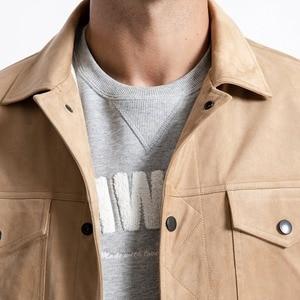 Image 4 - SIMWOOD Smooth Suede Trucker เสื้อผู้ชาย 2020 ฤดูใบไม้ผลิคลาสสิก Workwear ดูแฟชั่น Western เสื้อ SLIM FIT เสื้อแจ็คเก็ต 180498
